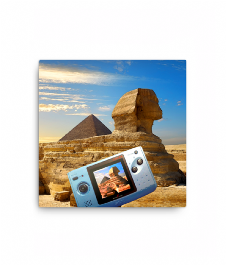 SNK Neo Geo Pocket Great Sphinx of Giza Selfie Canvas Print
